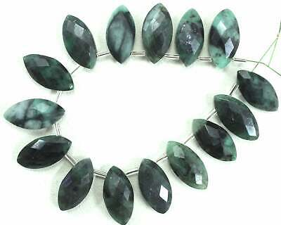 Natural Emerald Gemstone Faceted Marquise Shape Size 9x19-10x20 MM Wholesale