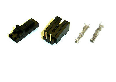 20SET 2.54 2-Pin MOLEX Female Connector Housing Crimp Contact Right Angle Header