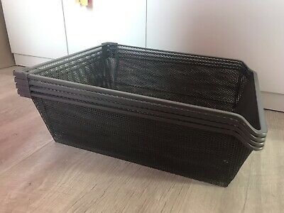 IKEA KOMPLEMENT MESH Basket with Pull-Out Rail in Dark Grey