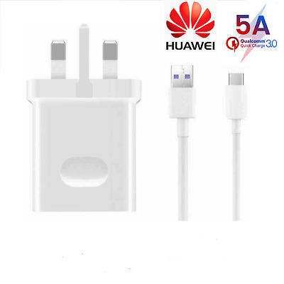 Official Huawei 5A Fast Wall Supercharger Type C USB cable for  P20 P30 Pro Lite