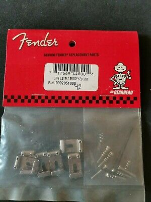 FENDER USA Stratocaster Original Bridge Saddles Vintage # 099-2051-000
