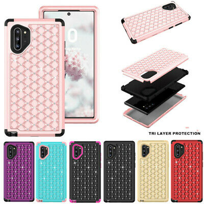 Diamond Bling 3 in 1 Hybrid Hard Case Cover For Samsung Galaxy Note 10+ S10 S9+