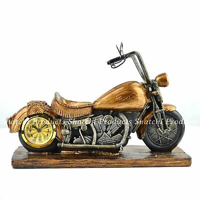 Motercycle Clock Showpiece Home Room Decore Wedding Centerpieces Christmas Gifts