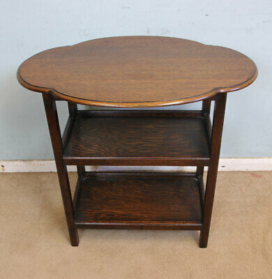 Antique Shaped Oak Side Table / Centre Occasional Table