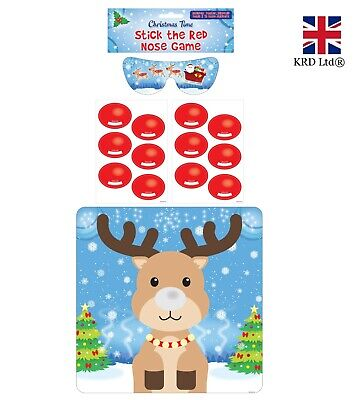 PIN THE NOSE ON THE REINDEER GAME Christmas Party Family Fun Dinner Activity UK