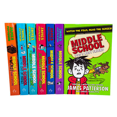 Middle School 7 Books Collection Set by James Patterson Dogs Best Friend PB