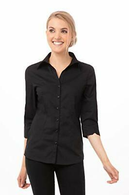 Chef Works Women's Finesse Shirt, Black, X-Small
