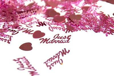 PA 2 x PURPLE JUST MARRIED 14g FOIL CONFETTI TABLE SCATTER WEDDING DECORATIONS