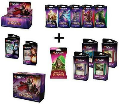 MTG Magic Throne of Eldraine Booster Box Bundle Brawl PW Decks Themes Collector!