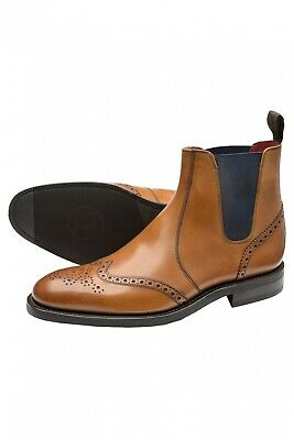 LOAKE THIRSK BROGUE Dealer Boot Tan £225.00 | PicClick UK
