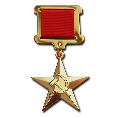 Hero of Socialist Labour WW2 Medal badge Russian USSR Star high award NEW Repro.