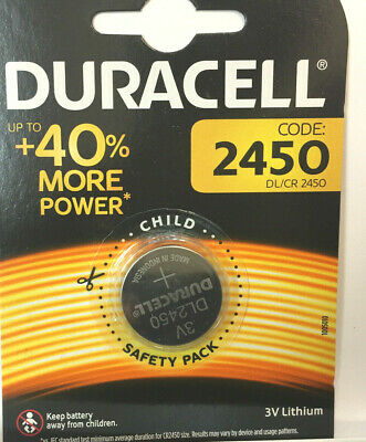 Genuine 2 X Duracell Cr2450 3V Lithium Coin Cell Battery 2450 Dl2450 K2450L