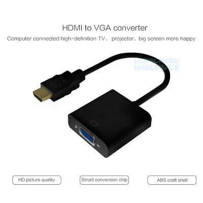 HDMI Male Converter Adapter Cable Cord to VGA Female 1080P for HDTV DVD PC
