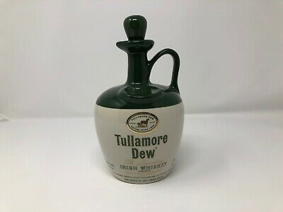 TULLAMORE DEW FINEST IRISH WHISKEY COLLECTOR DECANTER BOTTLE JUG STOPPER 750 ml