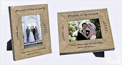 Parents of the Groom personalised engraved thank you gift with own message