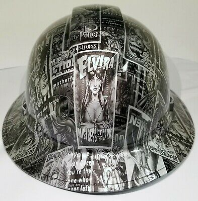 FULL BRIM Hard Hat custom hydro dipped ELVIRA BAD GIRLS OF HOLLYWOOD