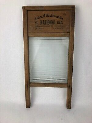 Antique Vintage National Washboard Co No.863 - Memphis Chicago USA FSTSHP