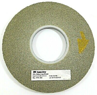 "3M Scotch-Brite EXL Deburring Wheel 8"" x 3/8"" x 3"" 92874"