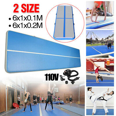 6x20FT Airtrack Air Track Floor Home Inflatable Gymnastic Tumbling Mat GYM