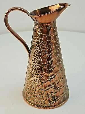 Large Antique JS&S J Sankey Arts & Crafts Hand Beaten Copper Jug FREE UK P&P