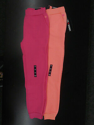 Girls Limited Too Neon Hot Pink & Neon Corral Joggers $20 Sizes 7/8- 14/16