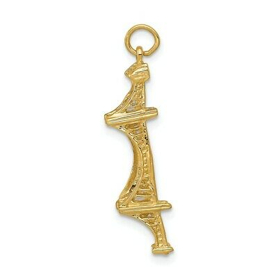 14k Golden Gate Bridge Charm Pendant Yellow Gold