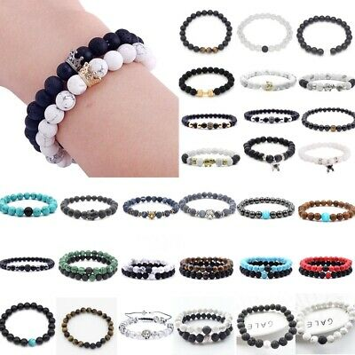 Unisex Therapeutic Energy Bracelets Crystal Stones Magnetic Women Men Bracelet