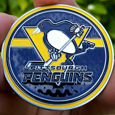 PREMIUM NHL Pittsburgh Penguins Poker Card Guard Chip Protector Golf Marker Coin