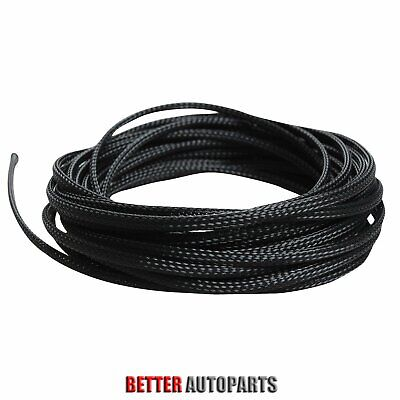 "Black 100 Ft 1/8"" Expandable Wire Cable Sleeving Sheathing Braided Loom Tubing"