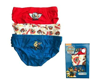Boys Kids Paw Patrol 3 pack 100% Cotton Briefs Underwear Pants Age 2-6 Years