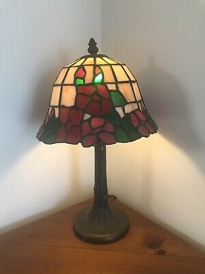 Leadlight Stained Glass Bedside Side Table Lamp Light Leadlight