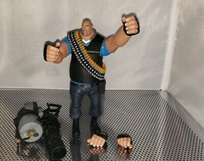 """TEAM FORTRESS 2 Blu HEAVY 7"""" Action Figure with In-Game Code"""