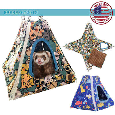 Small Animal Hamster Hammock Tent Bird Squirrel Rat Cage Hanging Bed Nest House