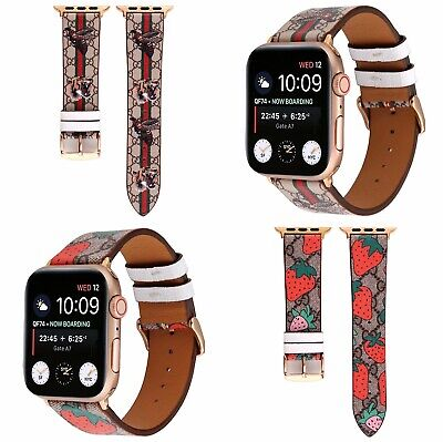 Luxury Leather Band Bracelet Strap Wristband for Apple iWatch Series 5 4 3 2 1