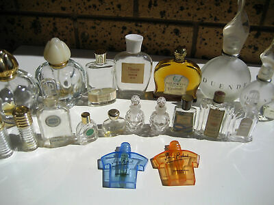 Exciting Collection of 20 Vintage Perfume Bottles Jean Patou Rykiel Monet