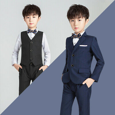 Boys Suits 5 Piece Wedding Suit Prom Page Boy Baby Formal Party 2 Colours