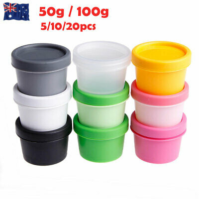 50g 100g Plastic Mask Cosmetic Containers Face Cream Balm Sample Jars Pot Bottle