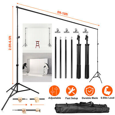 Heavy Duty 10ft Photo Video Studio Backdrop Background Stand Adjustable With Bag
