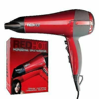 Red Hot 37060 Professional Hair Styling Ultra 2200W Hair Dryer 3 Heat 2 Speed