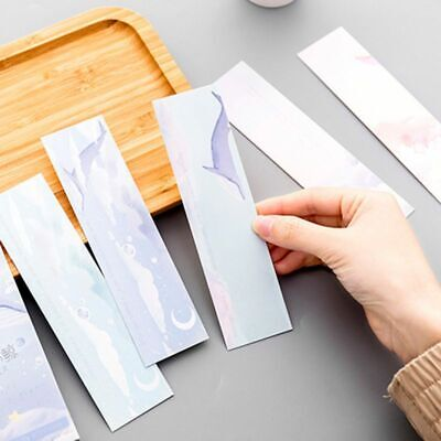 30pcs Whale Bookmarks Paper Page Notes Label Message Card Kawaii Book Marker