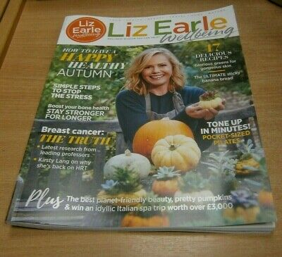 Liz Earle Wellbeing magazine SEP/OCT 2019 Sticky Banana Bread, Breast Cancer &