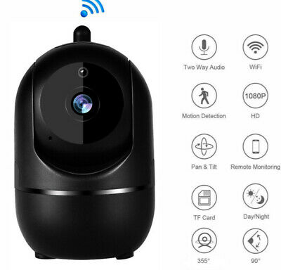 1080P HD Smart Home Security IP Camera Wi-Fi IR Night Baby Monitor CCTV Webcam