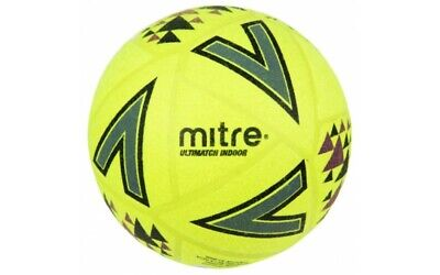 17.99 NEW  2019 MITRE ultimatch  INDOOR BALL - Sizes  4 or  5   FREEPOST