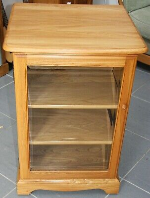 ERCOL LIGHT ELM CABINET with adjustable shelves - EXCELLENT Condition