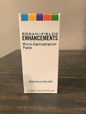 Rodan + and Fields Enhancements Microdermabrasion Paste 10 Packets 5ml each