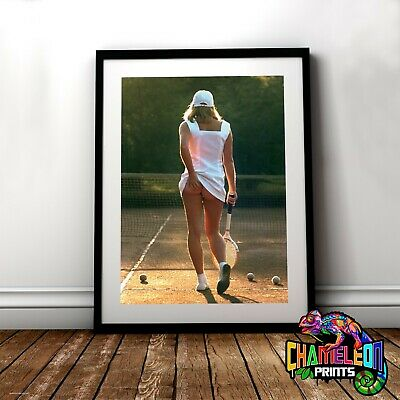 Tennis Girl Scratching Her Bum Poster A4 A3 Iconic Sports Posters