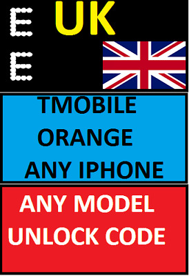 Ee Uk Iphone Tmobile Orange Virgin 7G 7+ 8G 8+ X Xr Xs Xsmax Unlocking Service