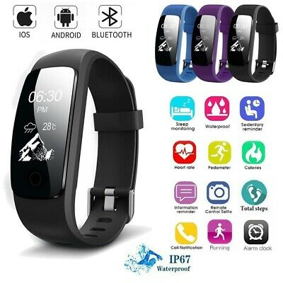 Fitness Smart Watch Bracelet Heart Rate Monitor Sport Tracker for iOS Android B