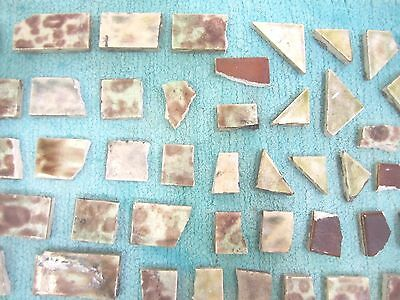 Antique Victorian Ceramic Fireplace Tiles Lot Pieces Backsplash Mantel Cambridge