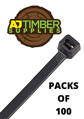 Cable Ties Black & Natural Cable Tie Wraps / Zip Ties - Various Sizes Available